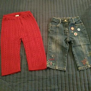 NWT Gymboree Pants GUC Janie and Jack Jeans 12m